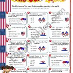 The Usa Quiz   Esl Worksheetmena22 | Usa Worksheets Printables
