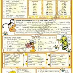 The Verb To Be E – Reading • Grammar • Chart • Exercises • 6 Tasks | To Be Worksheets Printable