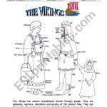 The Vikings   Esl Worksheetinciska | Viking Worksheets Printable