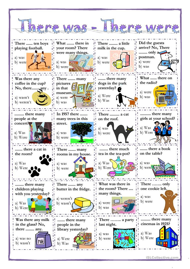 There Was - There Were Worksheet - Free Esl Printable Worksheets | There Was There Were Printable Worksheets