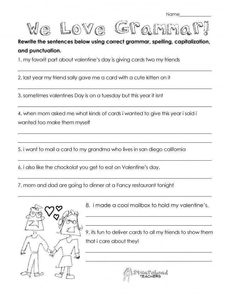 Printable Editing Worksheets