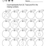 This Is A Backward Counting Worksheet For Kindergarteners. Kids Can | Printable Children's Math Worksheets
