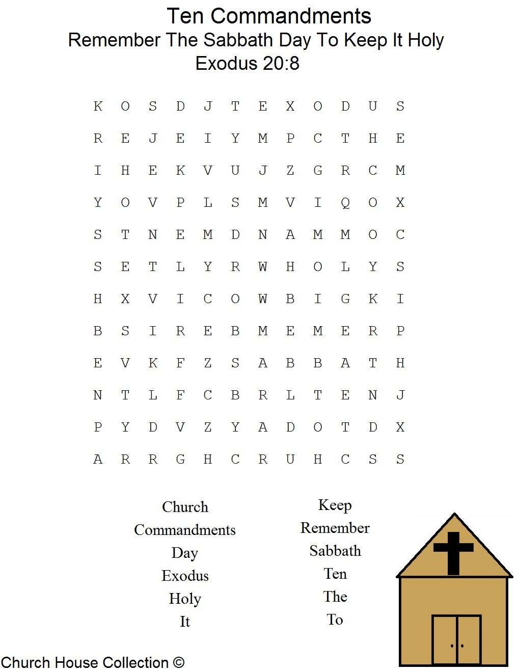 This Is A Free Printable Ten Commandments Word Find Puzzle For The | 10 Commandments Printable Worksheets