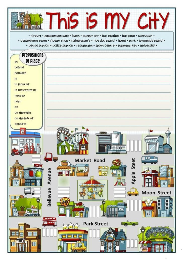 Places In Town Worksheets Printables