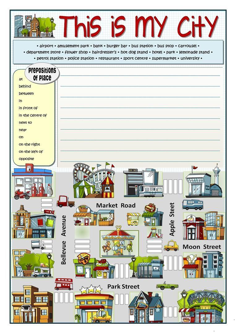 This Is My City Worksheet - Free Esl Printable Worksheets Made | Places In Town Worksheets Printables
