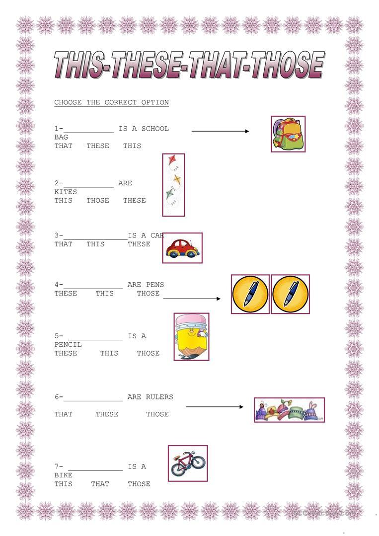 This That These Those Worksheet - Free Esl Printable Worksheets Made | This That These Those Worksheets Printable