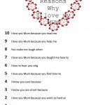 Top 10 Reasons Why I Love My Mom Worksheet   Free Esl Printable | Are You My Mother Printable Worksheets