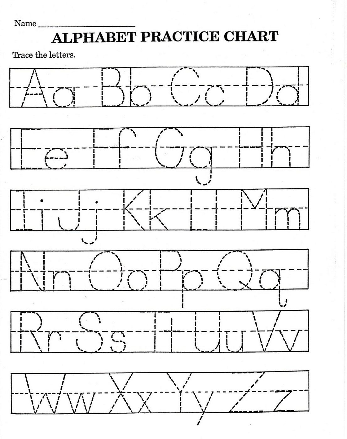 Trace Letter Worksheets Free   Reading And Phonics   Pre K Math   Printable Alphabet Worksheets