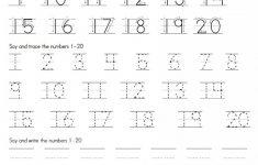 Numbers Printable Worksheets