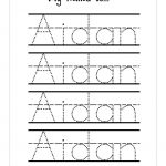 Trace Your Name Worksheet Free | Handwriting/journaling | Name | Trace Your Name Worksheets Printables