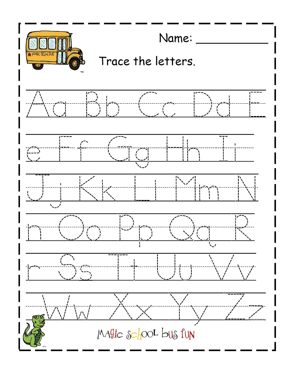 Traceable Letter Worksheets To Print | Activity Shelter | Printable Letter Worksheets