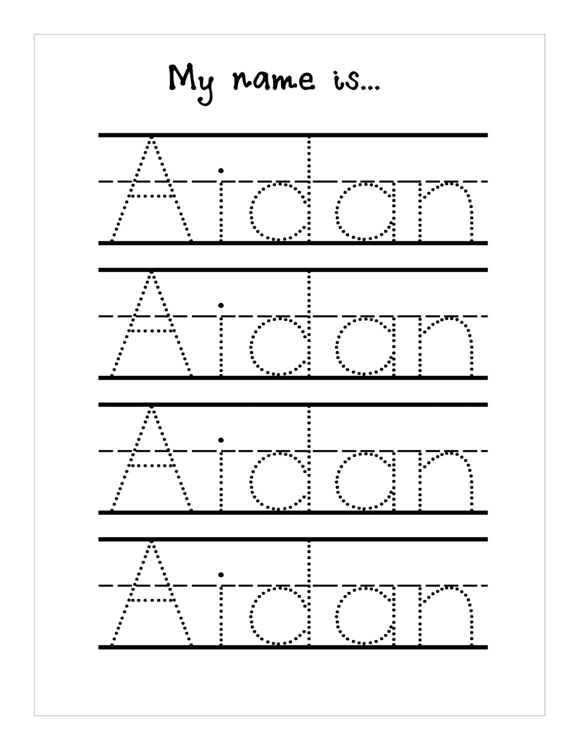Tracing Name Sheets Handwriting Worksheetsseason Tracing Sheets | Free Printable Name Tracing Worksheets For Preschoolers