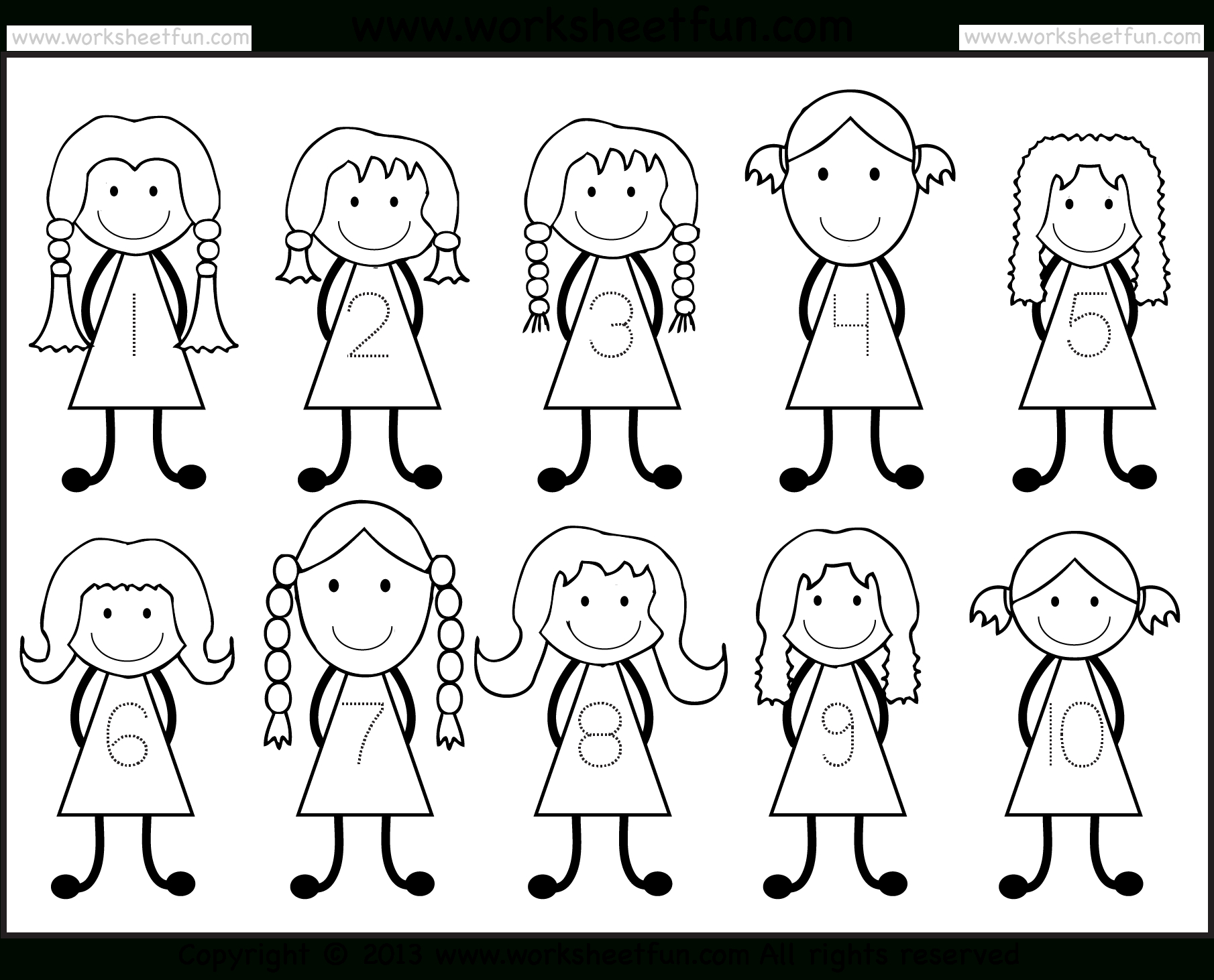 Tracing – Number Tracing / Free Printable Worksheets – Worksheetfun | Printable Number Tracing Worksheets For Kindergarten