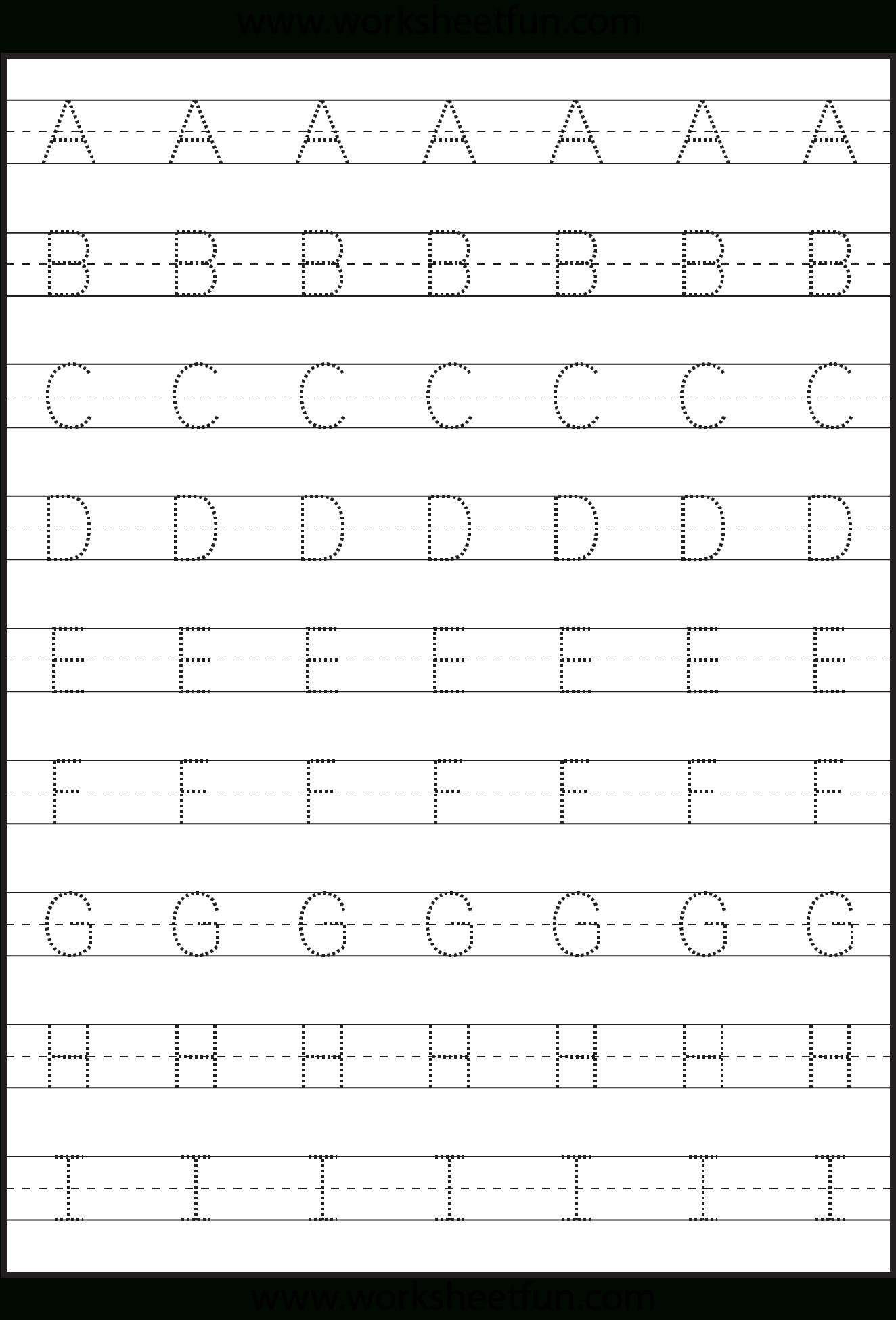 Tracing – Uppercase Letters – Capital Letters – 3 Worksheets / Free | Capital Alphabets Tracing Worksheets Printable