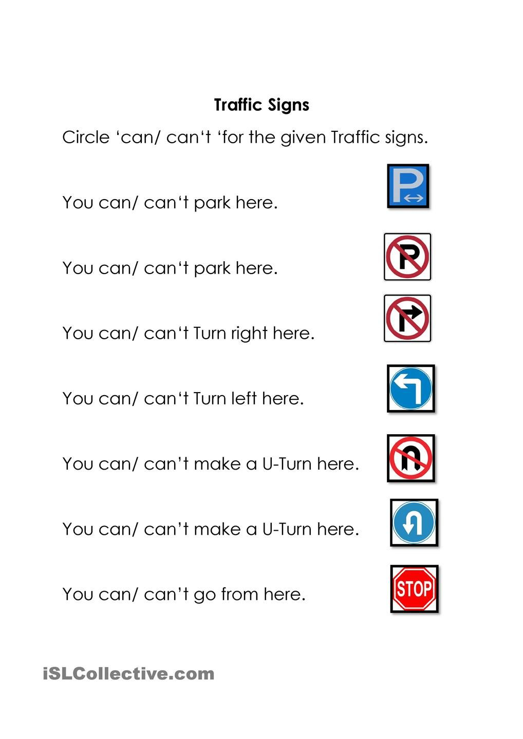 Traffic Signs | Health And Family Life | Construction Signs, Road | Printable Worksheets For Drivers Education