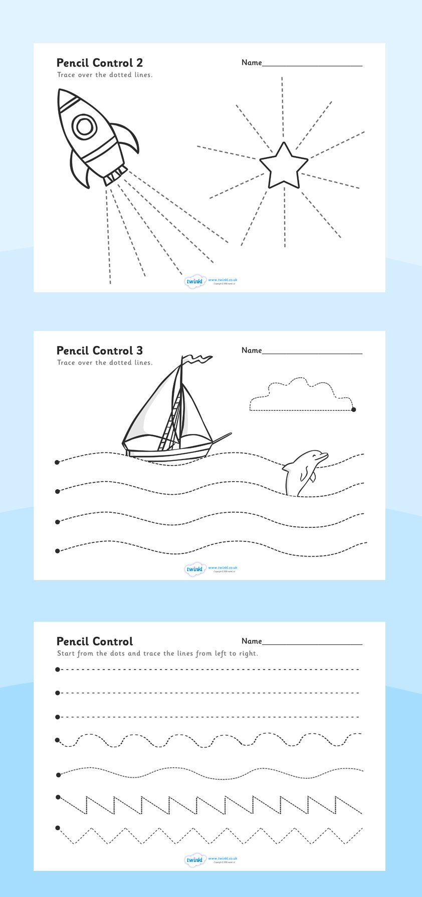 Twinkl Resources >> Pencil Control Worksheets >> Printable Resources | Printable Pencil Control Worksheets