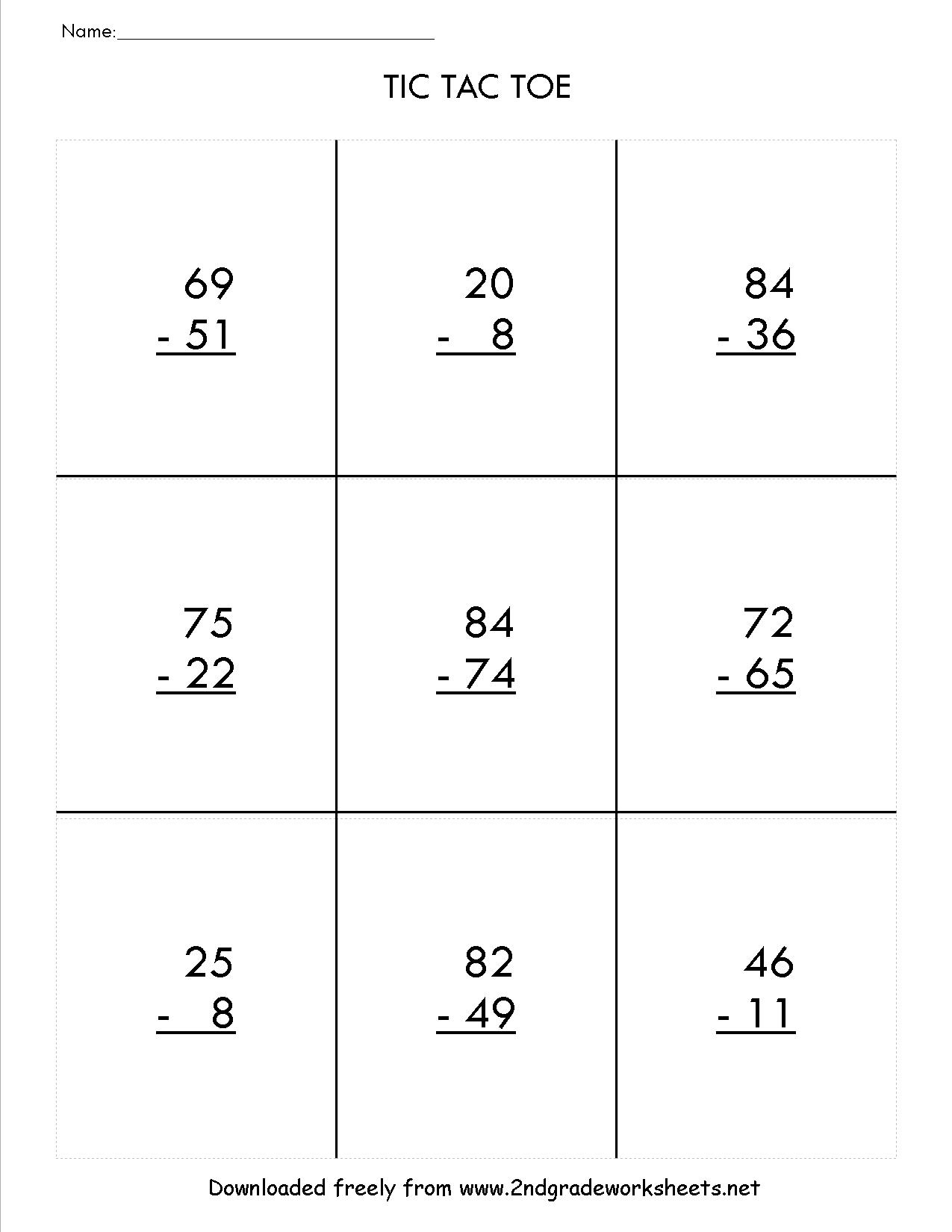 Two Digit Subtraction Worksheets | Printable Subtraction Worksheets With Borrowing