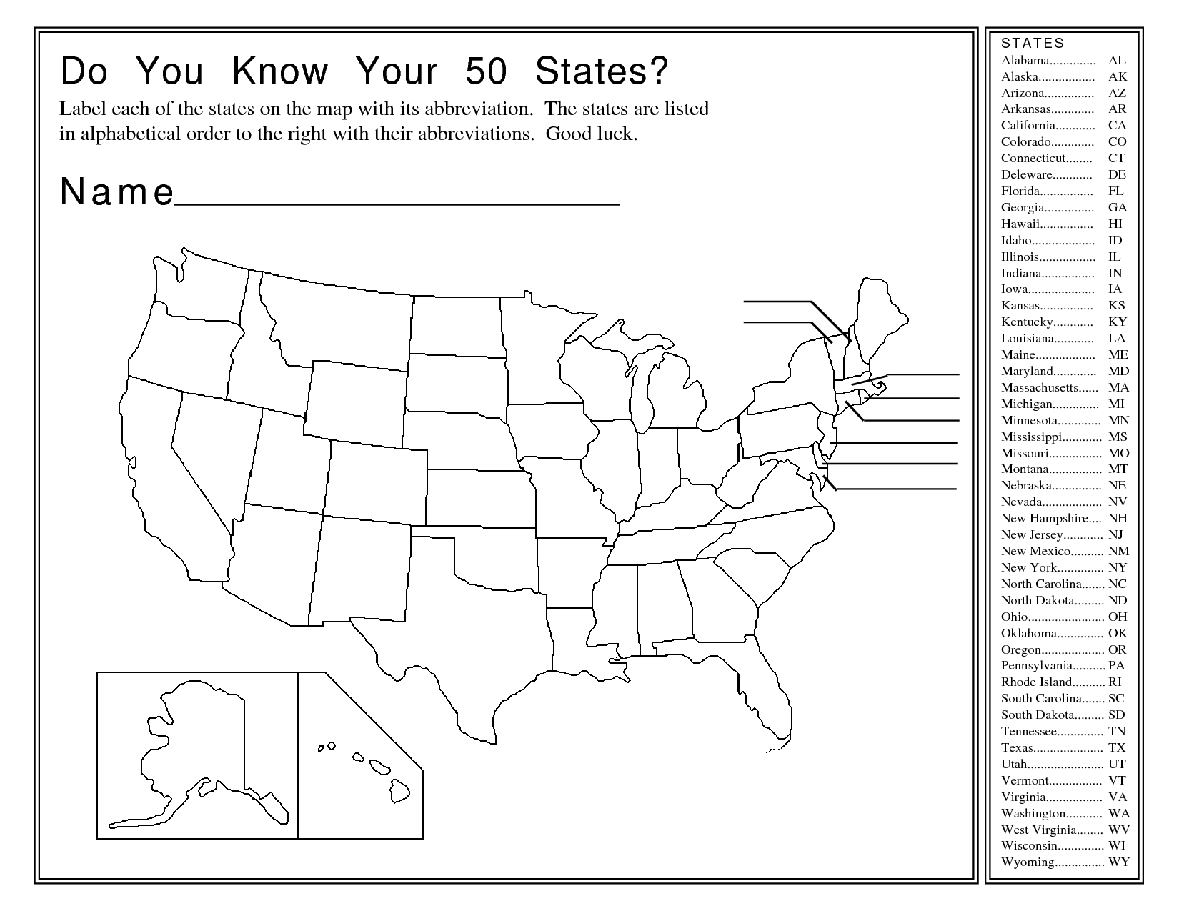 United States Map Activity Worksheet | Social Studies | Map | Free Printable States And Capitals Worksheets