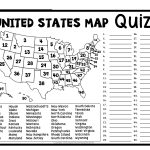 United States Map Quiz & Worksheet: Usa Map Test With Practice | Free Printable States And Capitals Worksheets