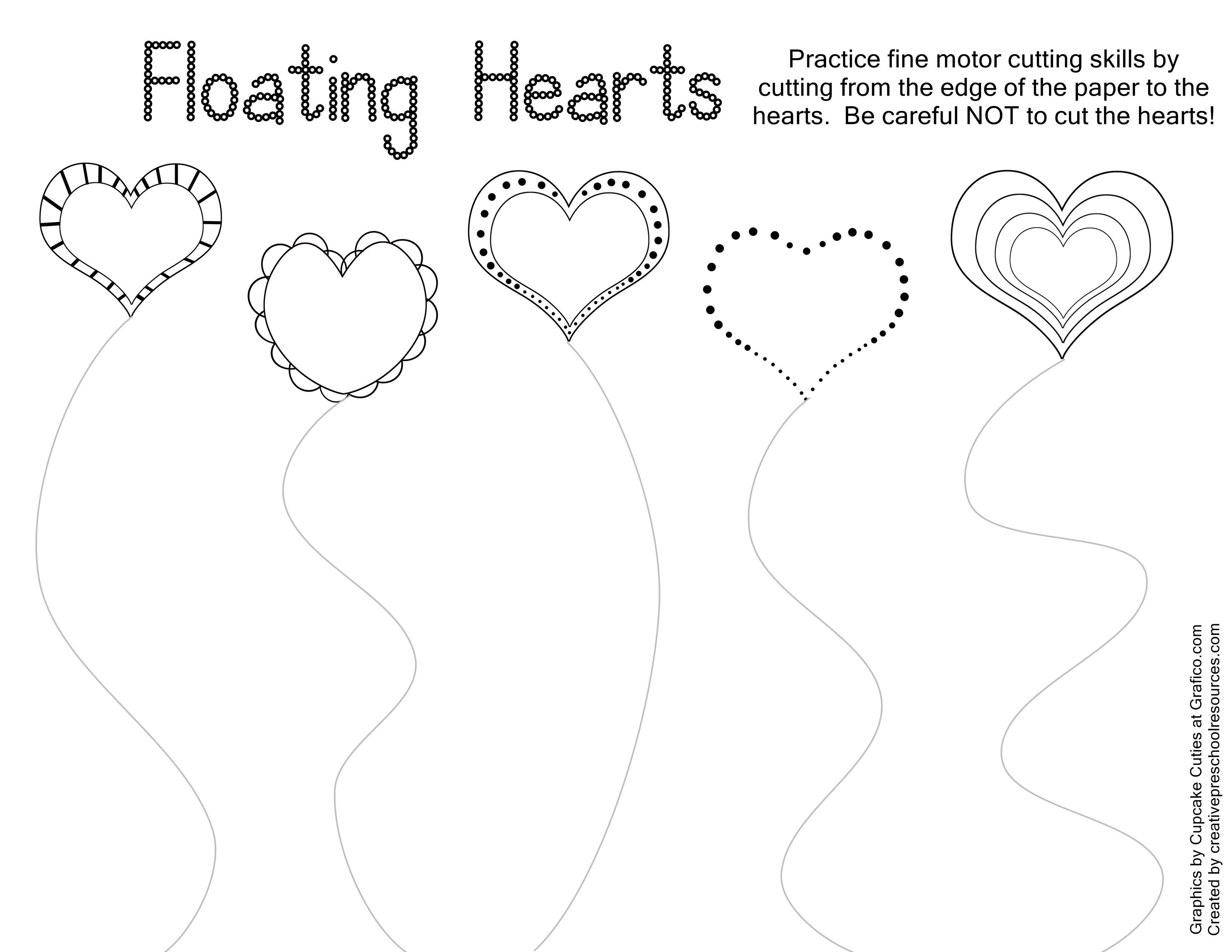 Valentine Trace & Cut Printables | Kids Stuffs | Cutting Practice | Free Printable Preschool Valentine Worksheets