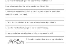 Valentine's Day Grammar (Free Worksheet For 3Rd Grade And Up | Grammar Worksheets Year 6 Printable