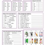 Verb To Be Worksheet   Free Esl Printable Worksheets Madeteachers | Free Printable Verb Worksheets For Kindergarten