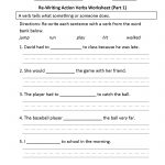 Verbs Worksheets | Action Verbs Worksheets | Free Printable Verb Worksheets For Kindergarten