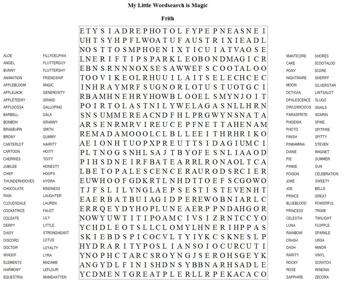 Very Hard Word Searches Printable   Frith Has Brought Us Another   Hard Word Searches Printable Worksheets