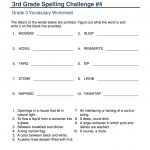 Vocabulary 3Rd Grade Write Spelling Words   Third Grade 3 Worksheet | Grade 3 Vocabulary Worksheets Printable