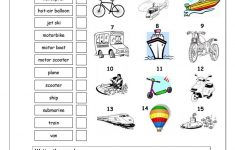 Vocabulary Matching Worksheet – Transport Worksheet – Free Esl | Free Printable Transportation Worksheets For Kids