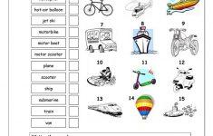 Vocabulary Matching Worksheet – Transport Worksheet – Free Esl | Free Printable Transportation Worksheets For Kids