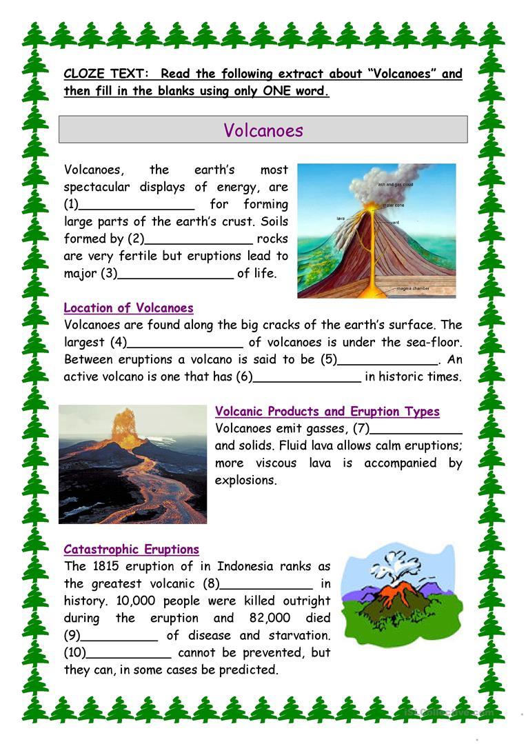 Volcanoes Worksheet - Free Esl Printable Worksheets Madeteachers   Printable Volcano Worksheets