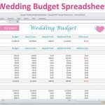 Wedding Budget Spreadsheet Planner Excel Wedding Budget | Etsy | Wedding Budget Worksheet Printable
