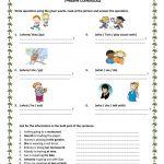 Wh Questions Present Progressive Worksheet   Free Esl Printable | Present Progressive Worksheets Printable