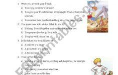 Personality Quiz Printable Worksheet