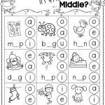 Winter Activities For Kindergarten Free | Kindergarten Literacy | Free Printable Phoneme Segmentation Worksheets