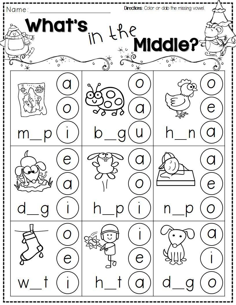 Winter Activities For Kindergarten Free | Kindergarten Literacy | Free Printable Phonics Worksheets