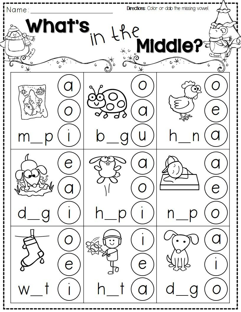 Winter Activities For Kindergarten Free | Kindergarten: Literacy | Kindergarten Worksheets Free Printables Phonics