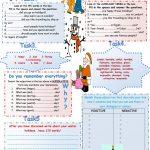 Winter Holidays. Speaking+Writing Worksheet   Free Esl Printable   Winter Holidays Worksheets Printables