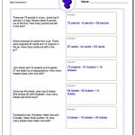 Word Problems | Free Printable Fraction Word Problem Worksheets