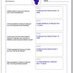 Word Problems | Third Grade Math Word Problems Printable Worksheets