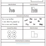 Words Worksheets Sight Words Worksheet For Kindergarten Pdf Sight | Free Printable Worksheets For Kindergarten Pdf