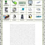 Wordsearch   Computer Parts Worksheet   Free Esl Printable | Parts Of The Computer Worksheet Printable