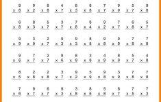 Free Printable Multiplication Worksheets 100 Problems