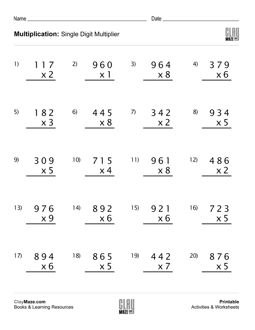Worksheet : Simple Reading Worksheets Grade English With Answers | Free Printable Double Digit Multiplication Worksheets