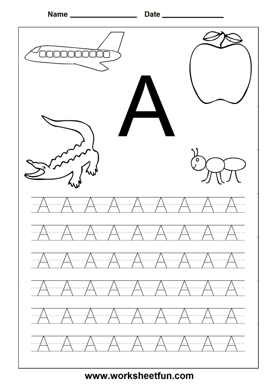 Worksheetfun - Free Printable Worksheets | Toddler Worksheets | Free Printable Letter Worksheets