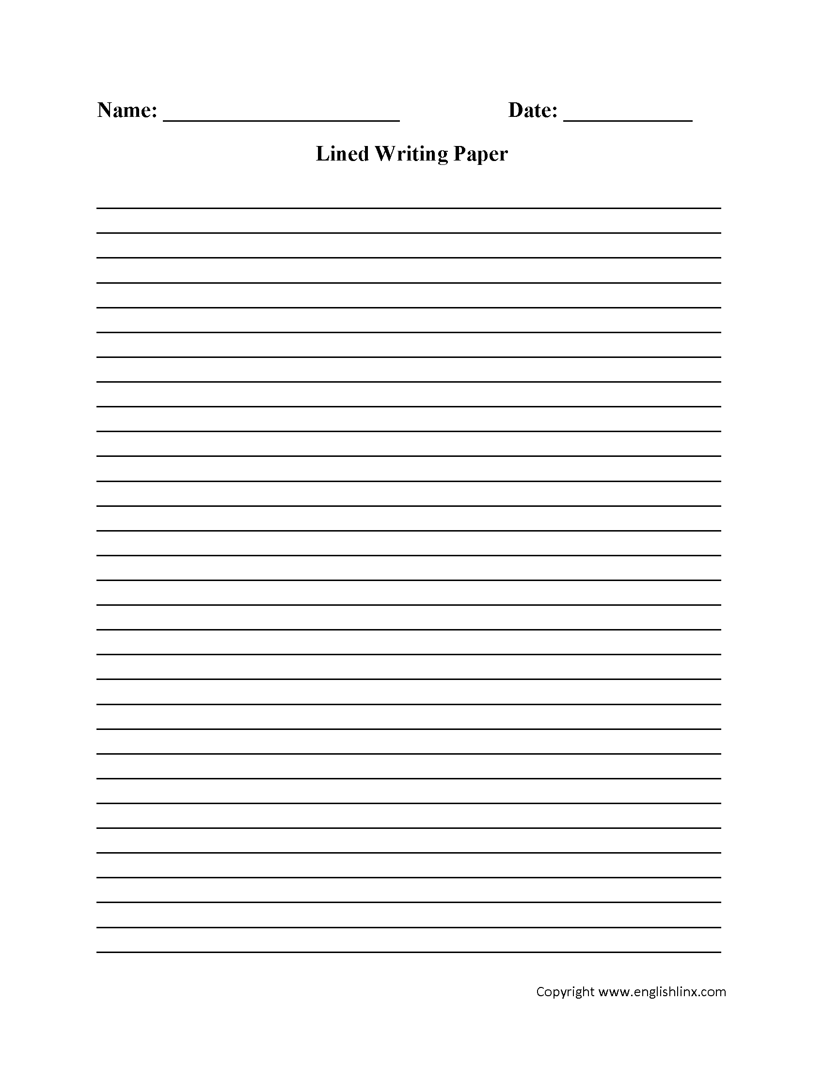 Writing Worksheets | Lined Writing Paper Worksheets - Free Printable | Printable Writing Worksheets