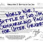 Wwii Worksheet For Upper Grades: Battle Of Iwo Jima | Squarehead | Wwii Printable Worksheets